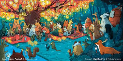 Night Festival- Illustrated Book Kickstarter by michellescribbles
