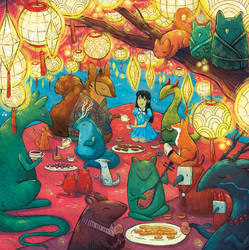 Night Festival- Illustrated Book Kickstarter - 03 by michellescribbles