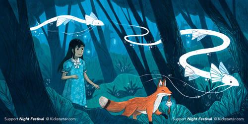 Post4 Night Festival- Illustrated Book Kickstarter by michellescribbles