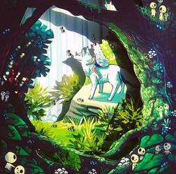 Mononoke Shadow box - in stock by michellescribbles