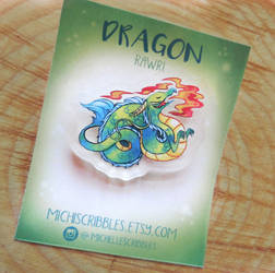 Dragon Brooch Pin by michellescribbles