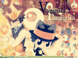 Reborn and Tsuna desktop by tsukkaomi