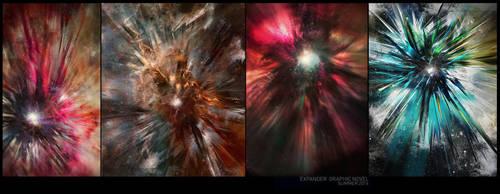 EXPANDER GRAPHIC NOVEL: FIRST SCENE DESIGNS by gartier