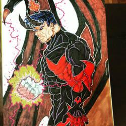 Batking in demon form! Fanart by odiedogg