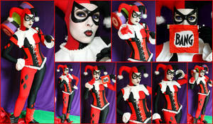 Harley Quinn SideShow Collectibles Cosplay Collage by AmmieChan