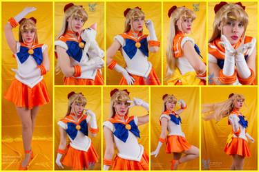 Sailor Venus Cosplay Collage by AmmieChan