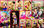 Lollipop Chainsaw Juliet Cosplay Collage by AmmieChan