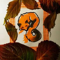 Fall fox by christiee61