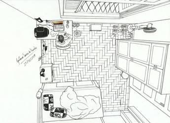Me in my bedroom by GustavoMorales