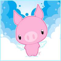 .:Flying Pig:. by PhantomCarnival