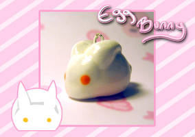 .:Egg Bunny Charm:. by PhantomCarnival