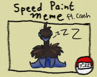 Crash Speedpaint Meme by malloweater