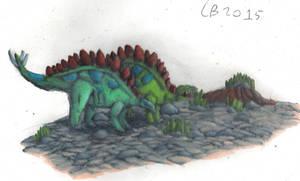 TODS: Stegosaurus Couple by GeneralHelghast
