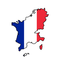 Greater France flag map by GeneralHelghast