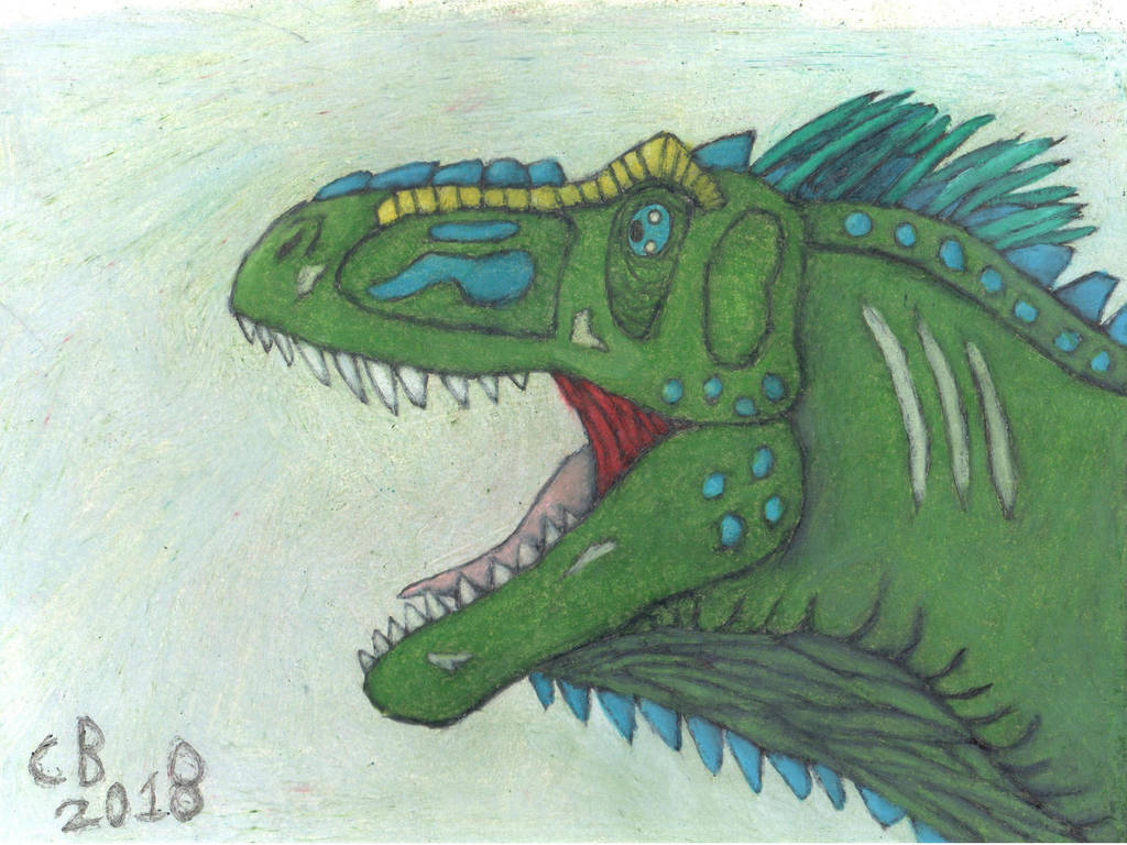 TODS: Tyrannosaurus Head Drawing by GeneralHelghast