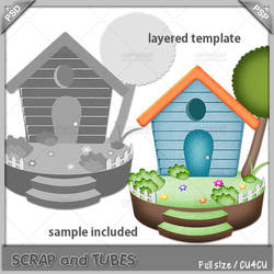 Little House Template by ZaZaScrapAndTubes