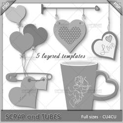 Love Templates by Scrap and Tubes Designs by ZaZaScrapAndTubes