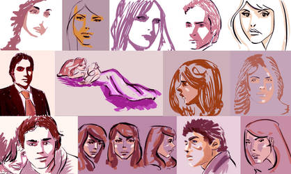 More and more sketches by everpainting
