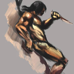 Frazetta study 1 by everpainting