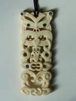 Maori Tiki Manaia pendant by savagewerx
