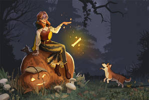 corgis and witches by calisto-lynn