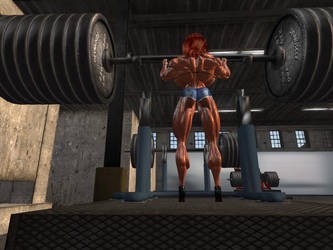 Workout by Giantess-Cassie