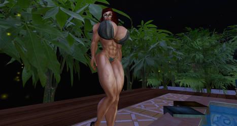 Fireflies and Bikini by Giantess-Cassie