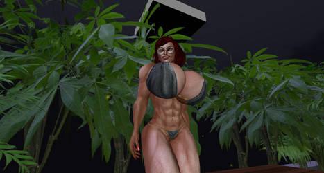 Fireflies and Bikini 2 by Giantess-Cassie