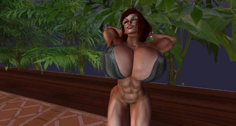 Fireflies and Bikini 4 by Giantess-Cassie