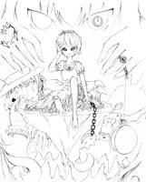 Alice - Lineart by icedtealatte
