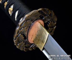 Tsubaki Full Tang Folded Steel Katana by swordsofnorthshire