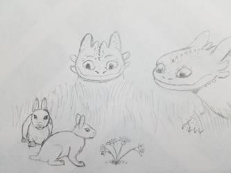 Easter Night Furies by Lakadema34