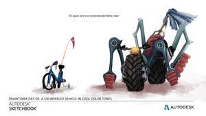 Six Wheeled Vehicle by Brandtd