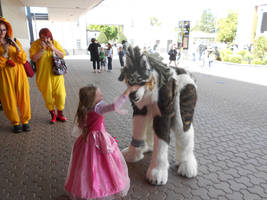 wolf link with little girl by samajula