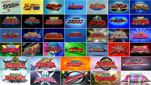 Super Sentai Title Cards by nobuharuudou