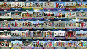 40 Super Sentai Teams :) by nobuharuudou