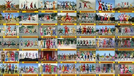 The 43 Super Sentai teams... by nobuharuudou