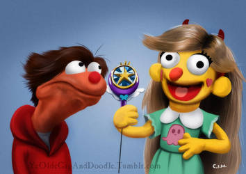 Star and Marco muppets by TwoStripTechnicolor