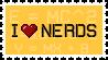 I :heart: Nerds Stamp by Kitz-the-Kitsune