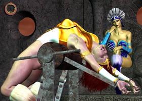 Teela vs. Evil-Lyn 14 by Uroboros-Art