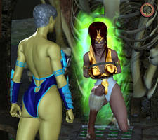 Teela vs. Evil-Lyn 32 by Uroboros-Art