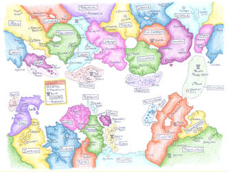 Political Continental Map 2 by oraxia