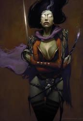Witch Huntress by joshnewtonart