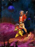 Vintage Sci-Fi by joshnewtonart