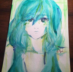 Watercolor Girl (Lapis - SU) ? by cantalo-upes