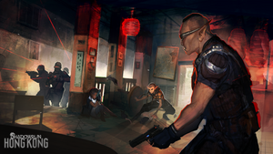 Shadowrun Hong Kong: Teahouse Shootout by CeruleanRaven