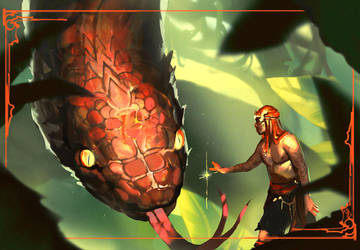 Serpent Tamer by CeruleanRaven