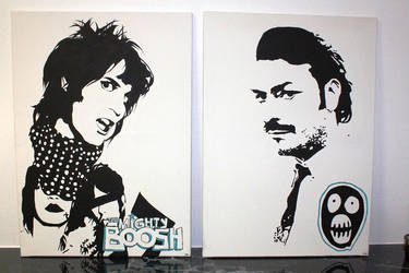 Noel Fielding, Julian Barratt by TergaDare