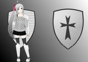 Mana Shirogane [RWBY OC] Character Concept by lonewarlock