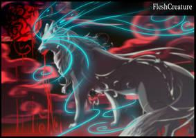 Off white BloodMOON by FleshCreature